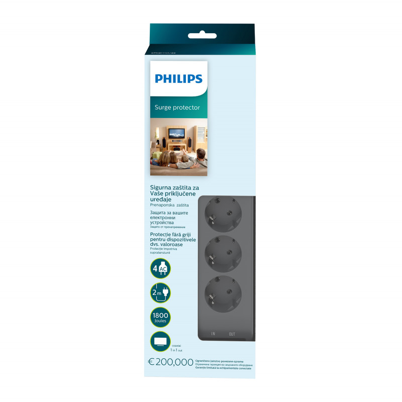 Philips Surge protector, 4-45105