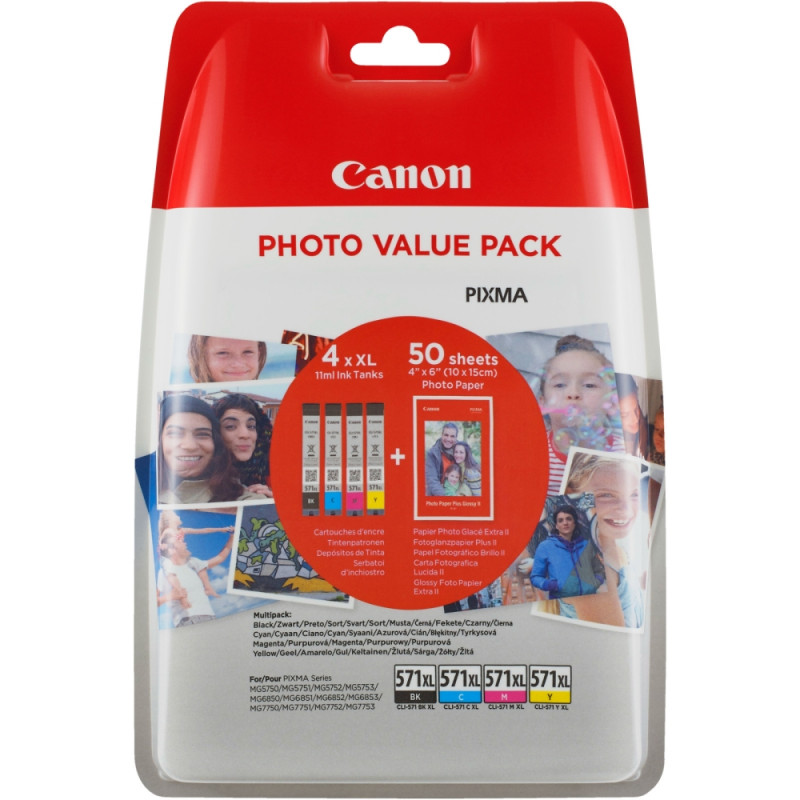 Canon CLI-571CMYB XL PVP-53525