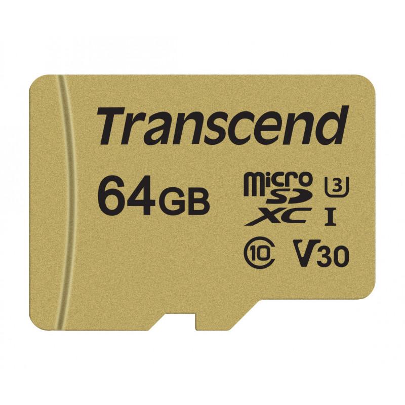 Transcend 64GB microSD UHS-I-55064